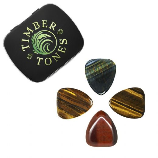 Tiger Tones Mixed Tin of 4 Guitar Picks